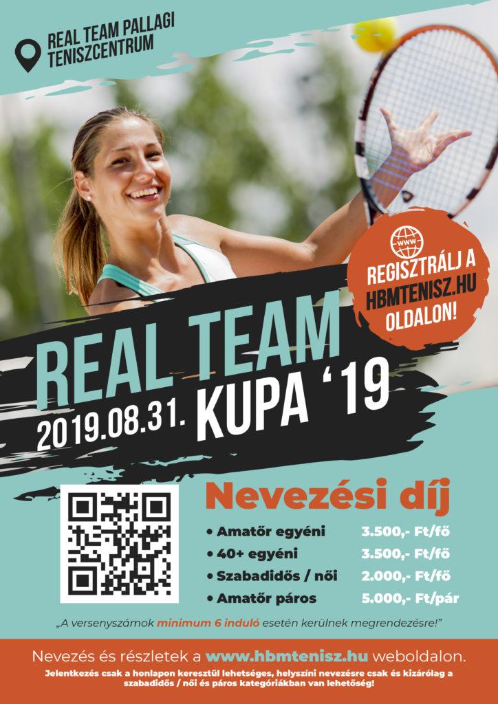 Real team tenisz kupa plakát 2019